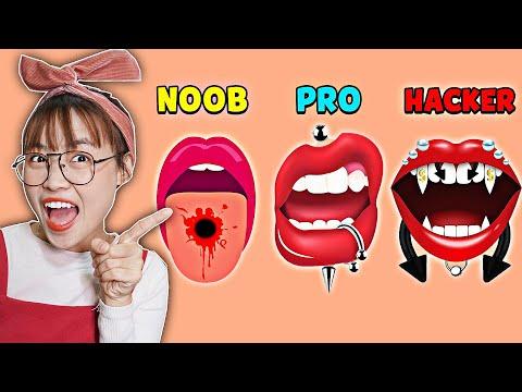 Hà Sam Lần Đầu Làm Nhân Viên Xỏ Khuyên Môi Cho Khách Và Cái Kết Trong Game Piercing Parlor