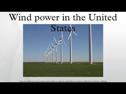 Wind power in the United States