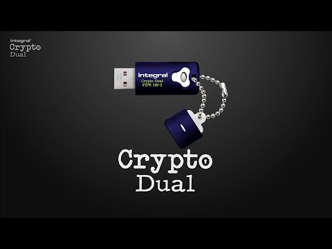 Integral Crypto Dual - AES 256-bit Hardware Encrypted USB, FIPS 140-2 validated