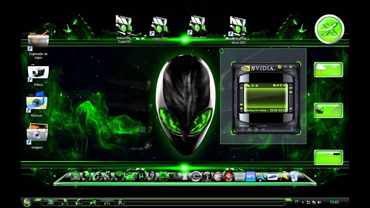 Novos Temas Alien Amarelo,Verde,Rosa,Azul,Laranja e ...