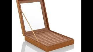 Prestige Small Brushed Fabric Jewelry Box