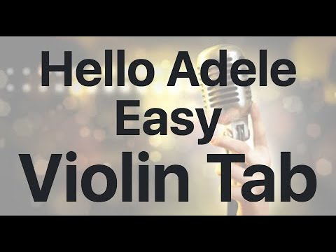 Learn Hello Adele Easy On Violin - How To Play Tutorial