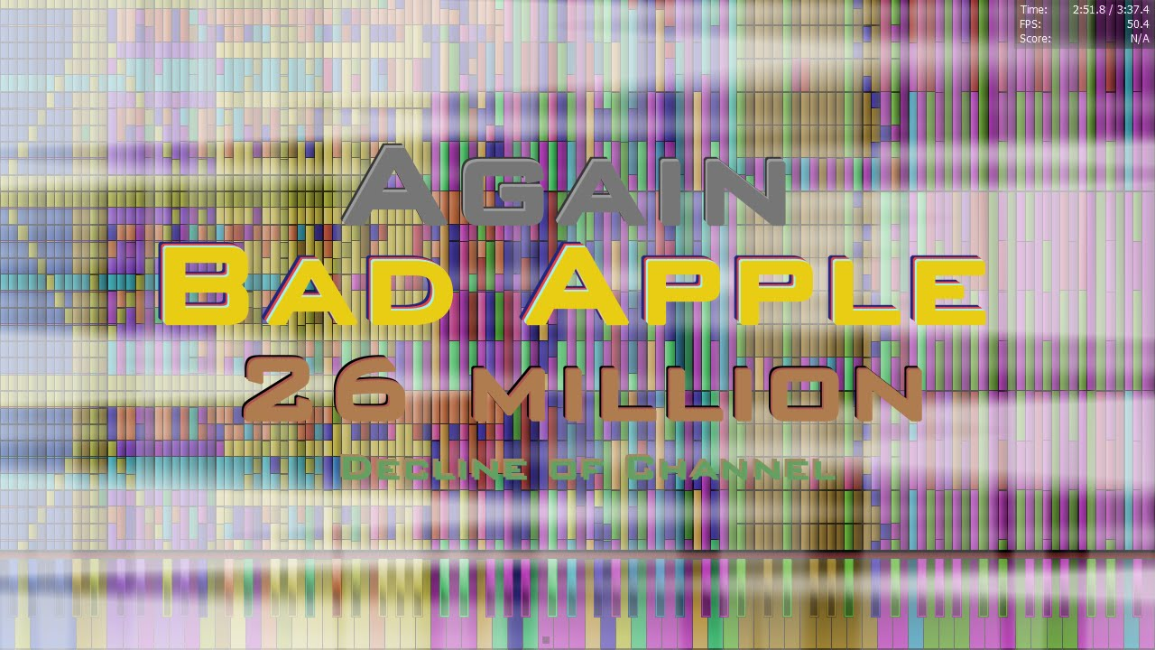 Black MIDI] Bad Apple 26 Million (Requested by Cameron Troy