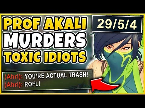 #1 AKALI WORLD CALLED OUT BY TOXIC ENEMY MID! SEASON 9 AKALI MID GAMEPLAY! - League of Legends