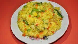 видео рис с овощами рецепт