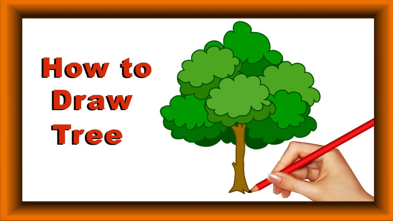 Step by Step how to Draw and color Tree for kids|Simple Coloring ...
