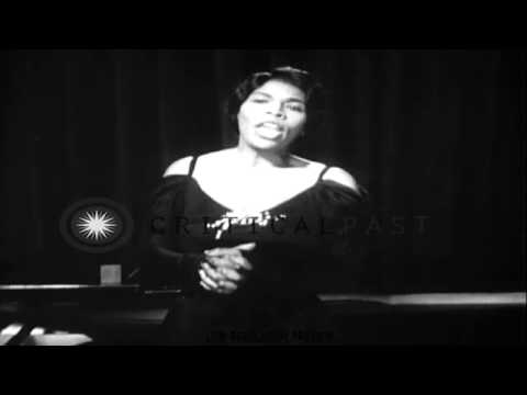 Marian Anderson sings three songs, a 1951 concert
