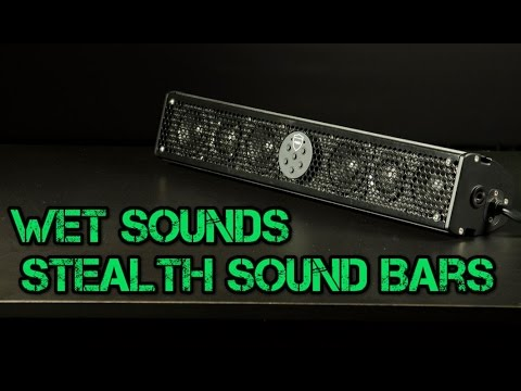 Wet Sounds Stealth Ultra Amp Stealth Core Utv Sound Bars