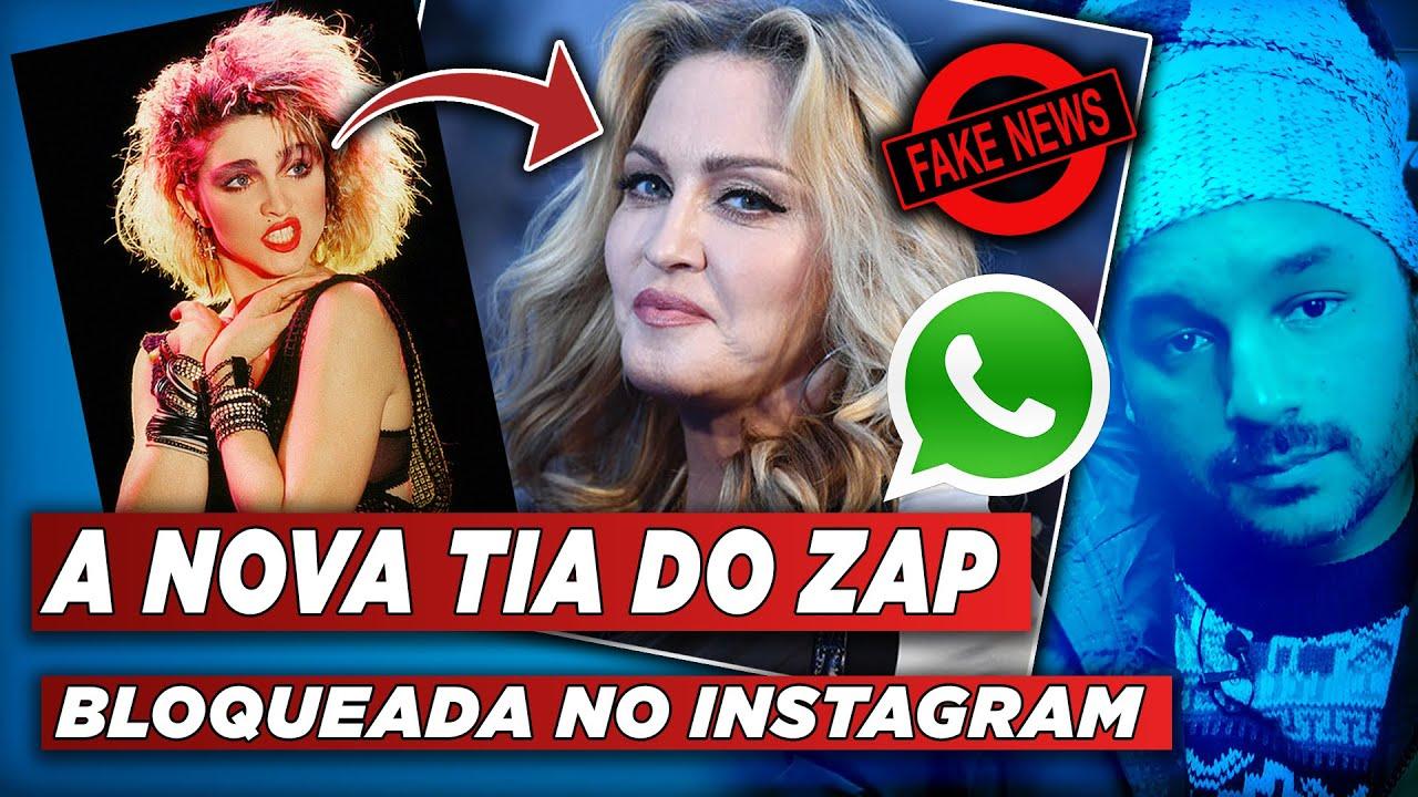 MADONNA ESTÁ EM DECADÊNCIA - DE CANTORA POP A TIAZINHA DO ZAP - BLOQUEADA POR FAKE NEWS