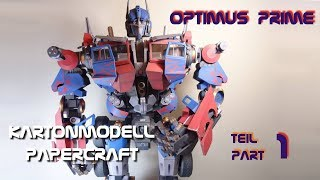 Optimus Prime #1 - 120 cm - Kopf/Head - Kartonmodell/papercraft