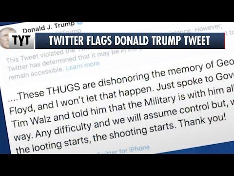 Twitter Strikes Back Against Trump, Flags Tweet