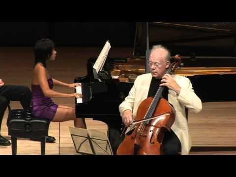 Lynn Harrell - Yuja Wang - Brahms F Major Op.99, 1st Movt.