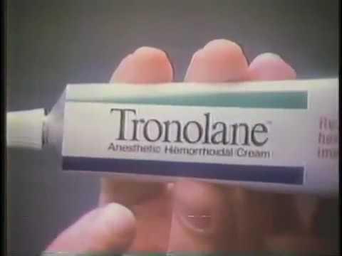 Tronolane Ointment Ad 1982 V2 Youtube