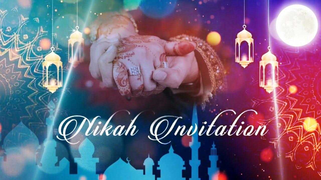 Islamic Wedding Invitation Video Editing by kinemaster   Nikah ...