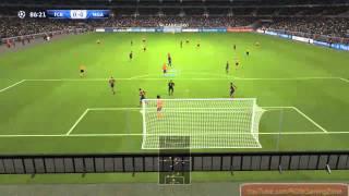 PES 2014 FC Barcelona vs Malaga CF PC Gameplay !