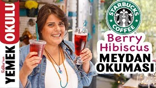 Starbucks Berry Hibiscus (Challenge) Meydan Okuması | Evde Daha Ucuz ve Hızlı Berry Hibiscus Yapımı