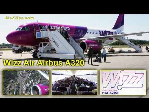 Wizz Air Airbus A320 Kiev Zhuliany to Hamburg-Lübeck [AirClips full flight series]