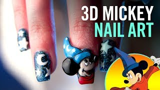 3D Mickey Mouse Nail Art, 3 Ways | TIPS by Disney Style