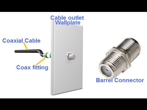 how to install cable outlet using a store bought rg6 coax youtube rh youtube com Electric Power Socket Wiring Electrical Socket Wiring