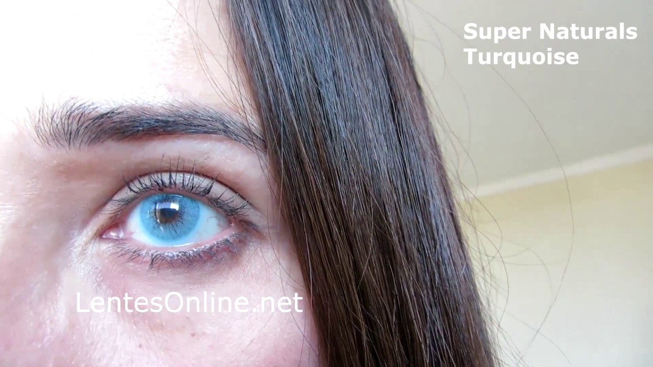 Freshtone Super Naturals Turquoise Ambar New Colors 2017 Softlens Diva Queen One Layer With Clear Vision