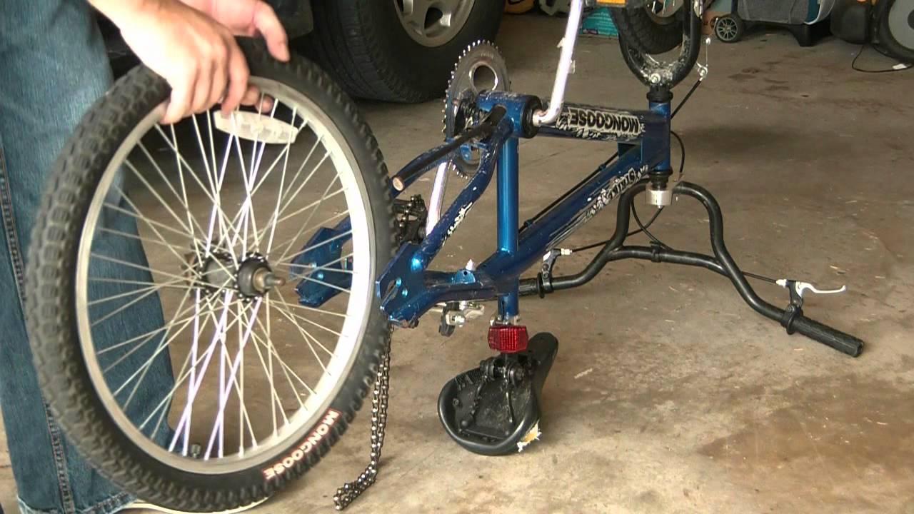 How To Change A Bike Tire Tube Fix A Flat Bike Tire Youtube