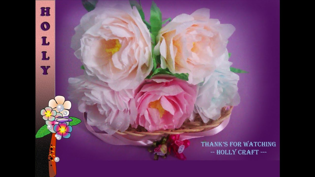 How to make paper flowers shabby chic peonies youtube mightylinksfo