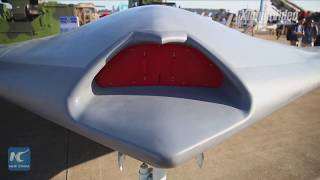 "China's stealth drone ""Skyhawk"" unveiled at air show in Zhuhai"