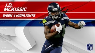 J.D. McKissic's Big Night w/ 2 TDs vs. Indianapolis   Colts vs. Seahawks   Wk 4 Player Highlights