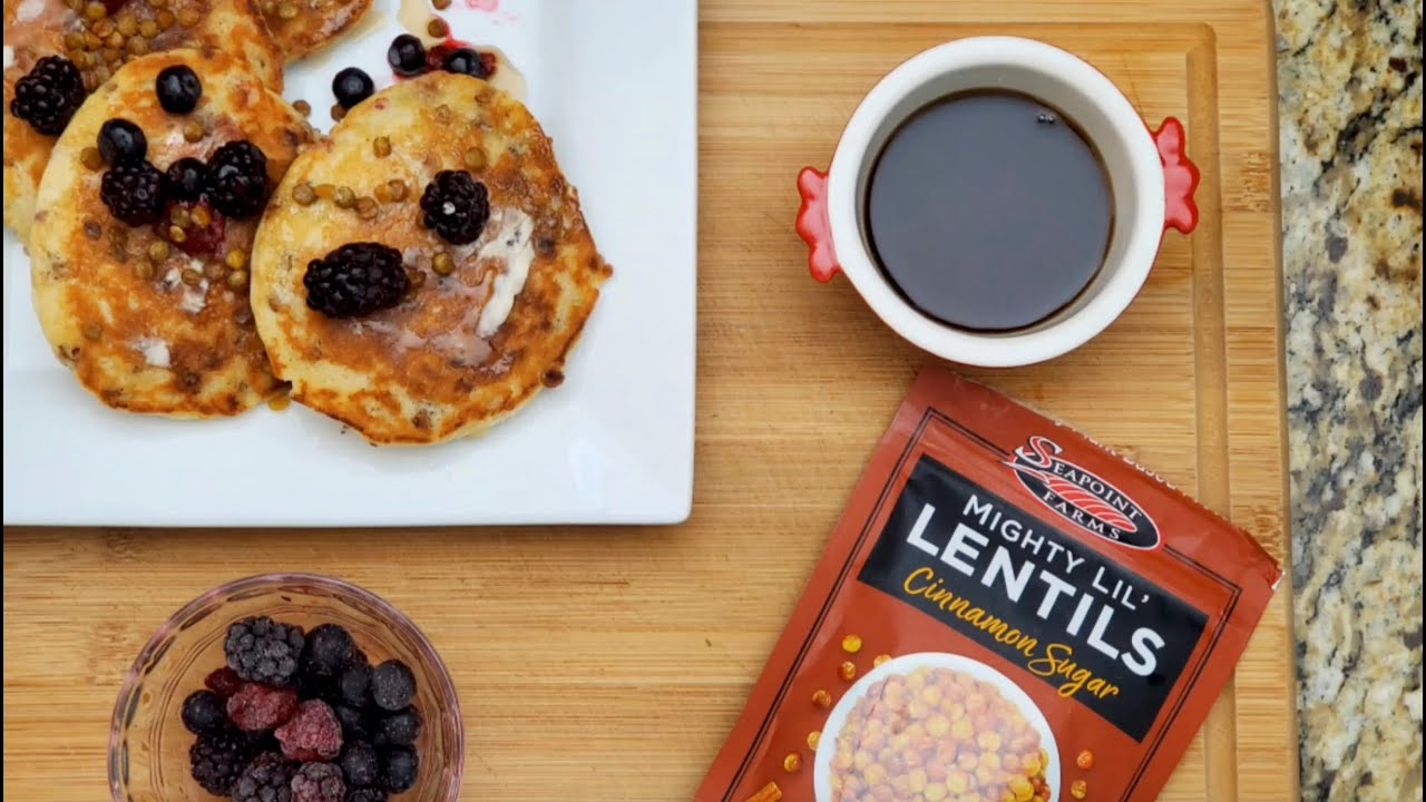 Seapoint Farms Cinnamon Sugar Mighty Lil' Lentils Pancakes