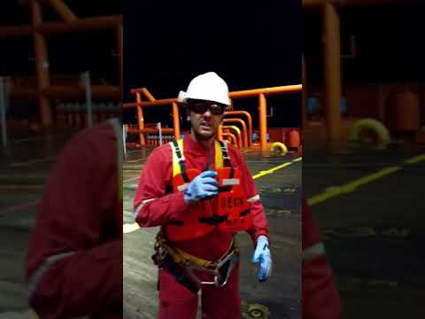 Rigger on ROV (ROV Support Vessel) -