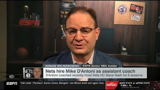 Adrian Woj reacts to Nets hire Mike D'Antoni as assistant coach