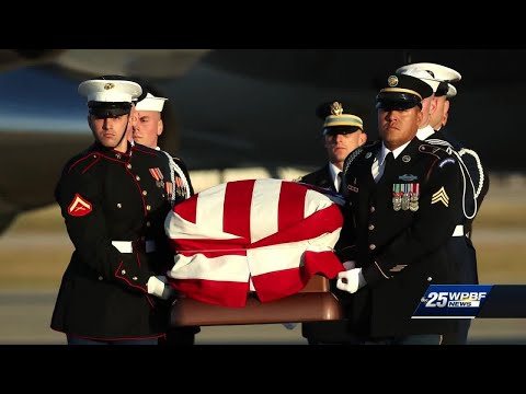 Wellington Marine helped escort casket