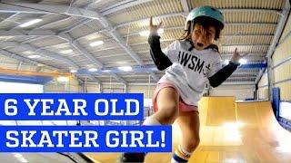 Are doar 6 ani dar merge pe skateboard intr-un mod incredibil!