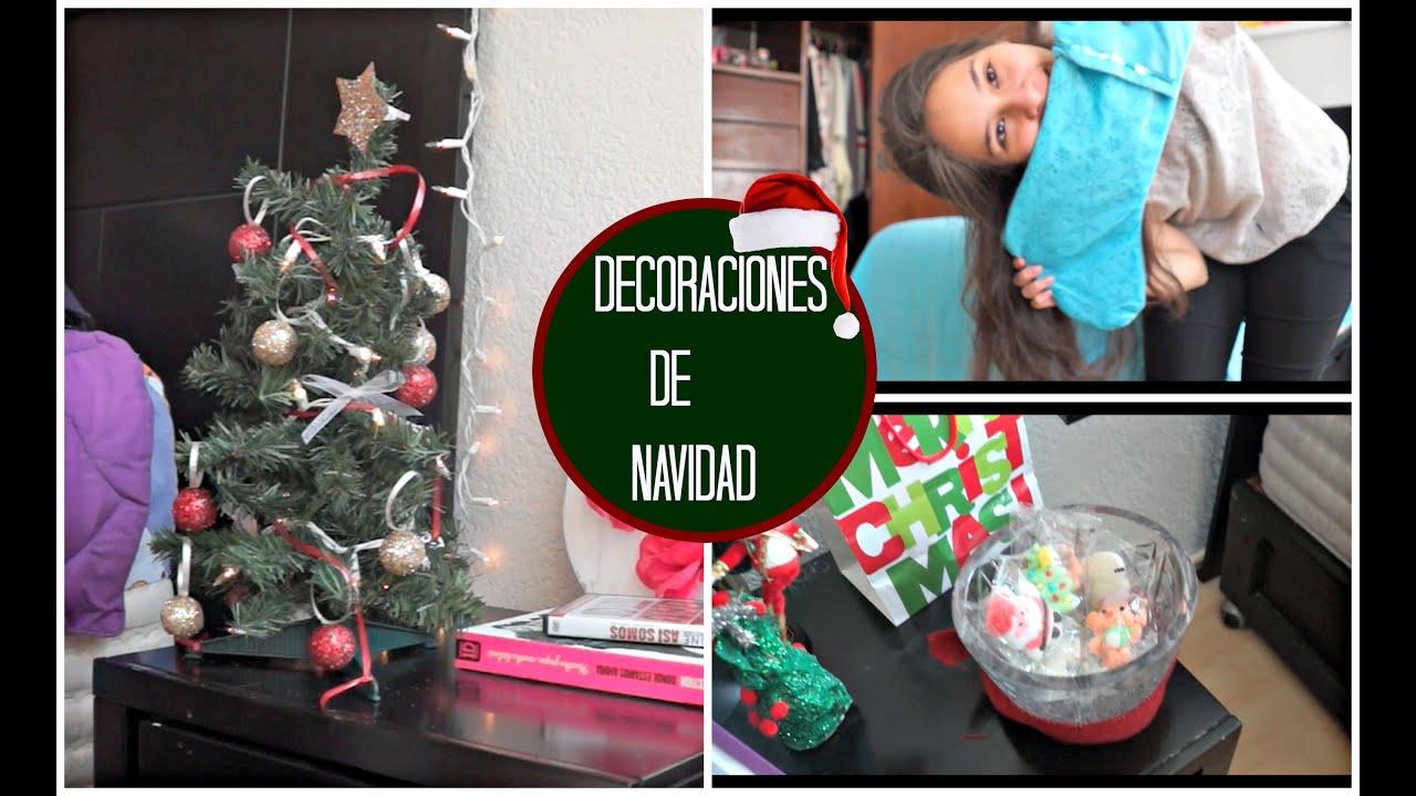 Decorando mi cuarto para navidad diy decoraciones youtube - Decoraciones para navidad ...
