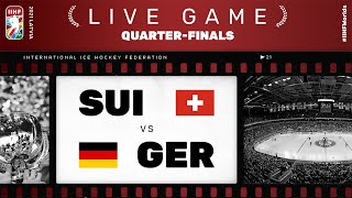 Switzerland – Germany | Live | QUARTER-FINAL | 2021 IIHF Ice Hockey World Championship