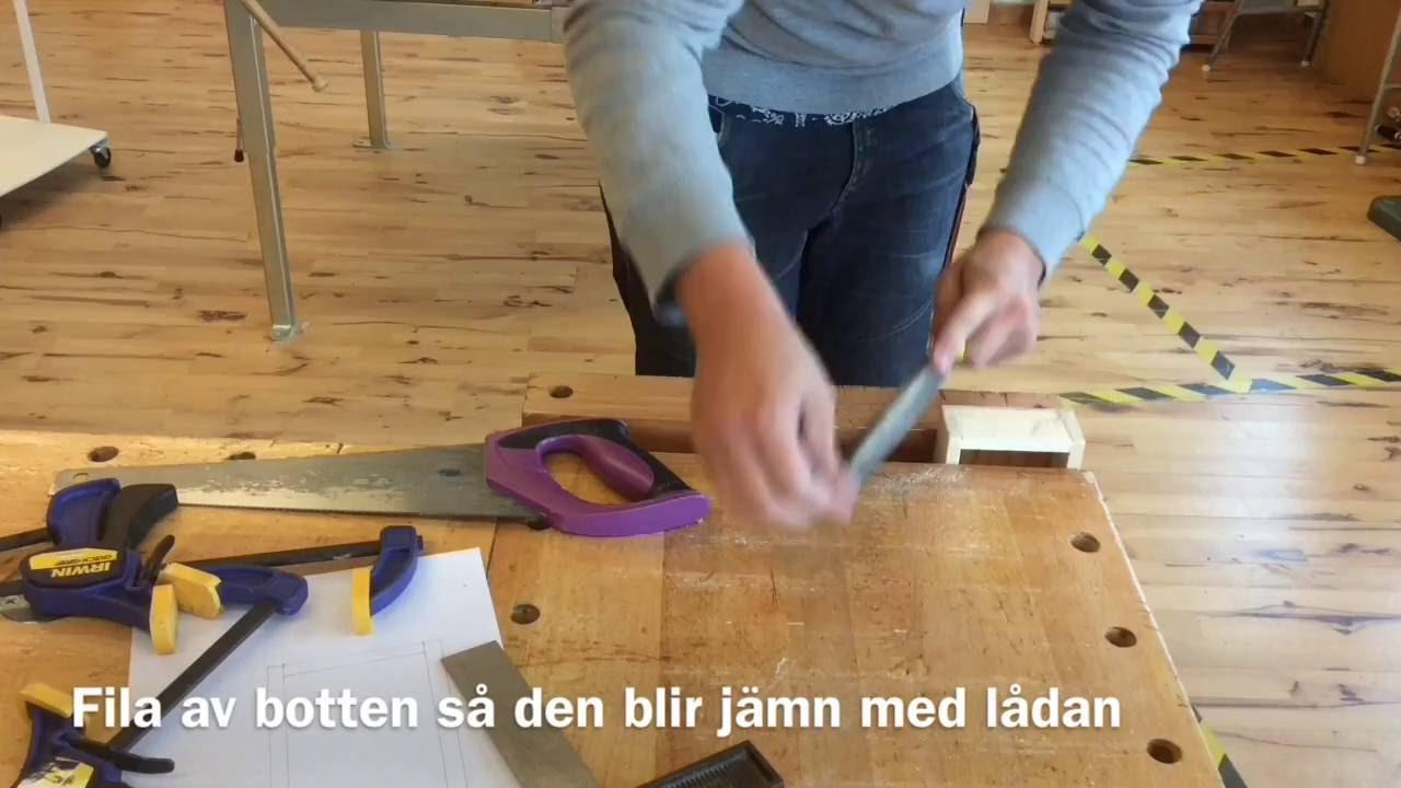 Slöjda en låda - YouTube
