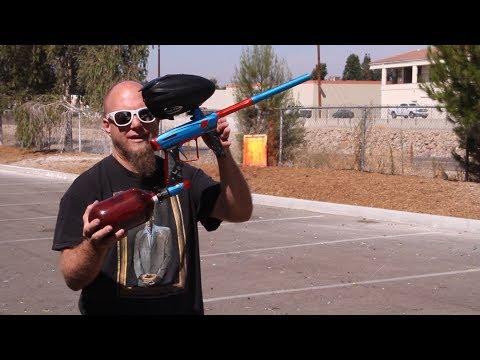 Empire Vanquish GT Paintball Gun - Shooting