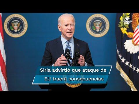 Biden ordena bombardeo en Siria; mueren 17