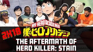 My Hero Academia - 2x18 The Aftermath of Hero Killer: Stain - Group Reaction