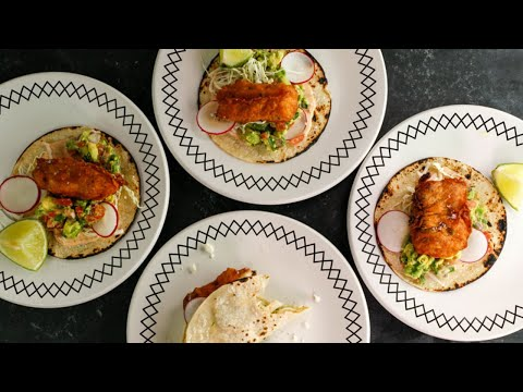 Simple Beer-Battered Fish Tacos With Chipotle Crema + Chunky Guac