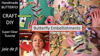 BUTTERFLY EMBELLISHMENTS ⭐ Beginner Tutorial   Craft DIY