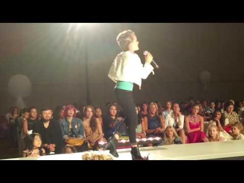 12 Year Old Olivia Kay Sings Fight Song In Orlando, Florida At CMM Fashion Parade 2016