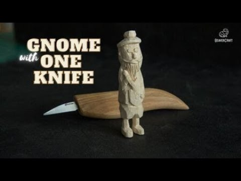 Carving Gnome With One Knife - Step-by-Step Tutorial