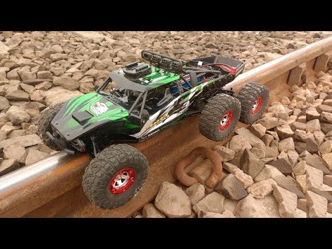 High Speed Off-road RC Car At Railway Track | 🚗 Rc Car VS. Train 🚂...