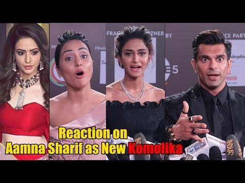 Hina Khan, Erica Fernandes and Karan Singh Grover Reaction on Aamna Sharif as New Komolika Mp3