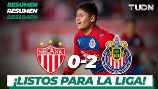 Resumen y goles | Necaxa 0 - 2 Chivas | Amistoso | TUDN