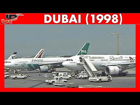 DXB DUBAI Int Airport 20 YEARS AGO! (1998)