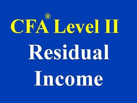CFA Level II- Residual Income- Part I (of II)