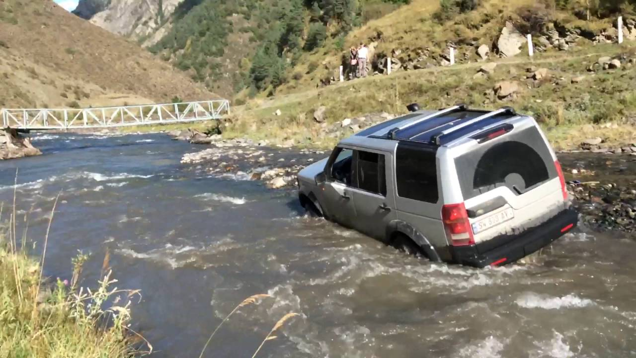 Fabuleux Land Rover Discovery 3 Extreme river off road Экстремальное  OU33