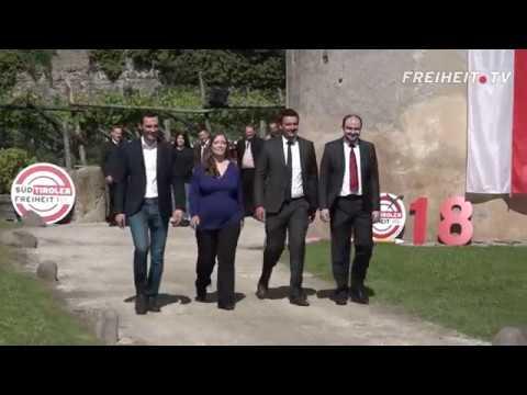 Die Kandidatenvorstellung der Süd-Tiroler Freiheit im Video